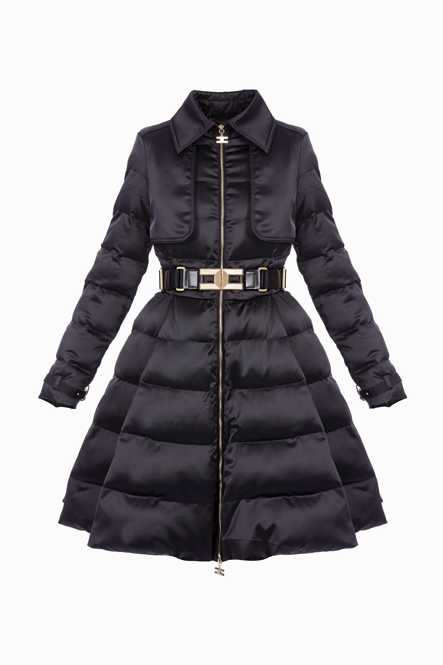 Coats and jackets   Piumino con cintura Elisabetta Franchi (Taglia 44) d80c61c0d68