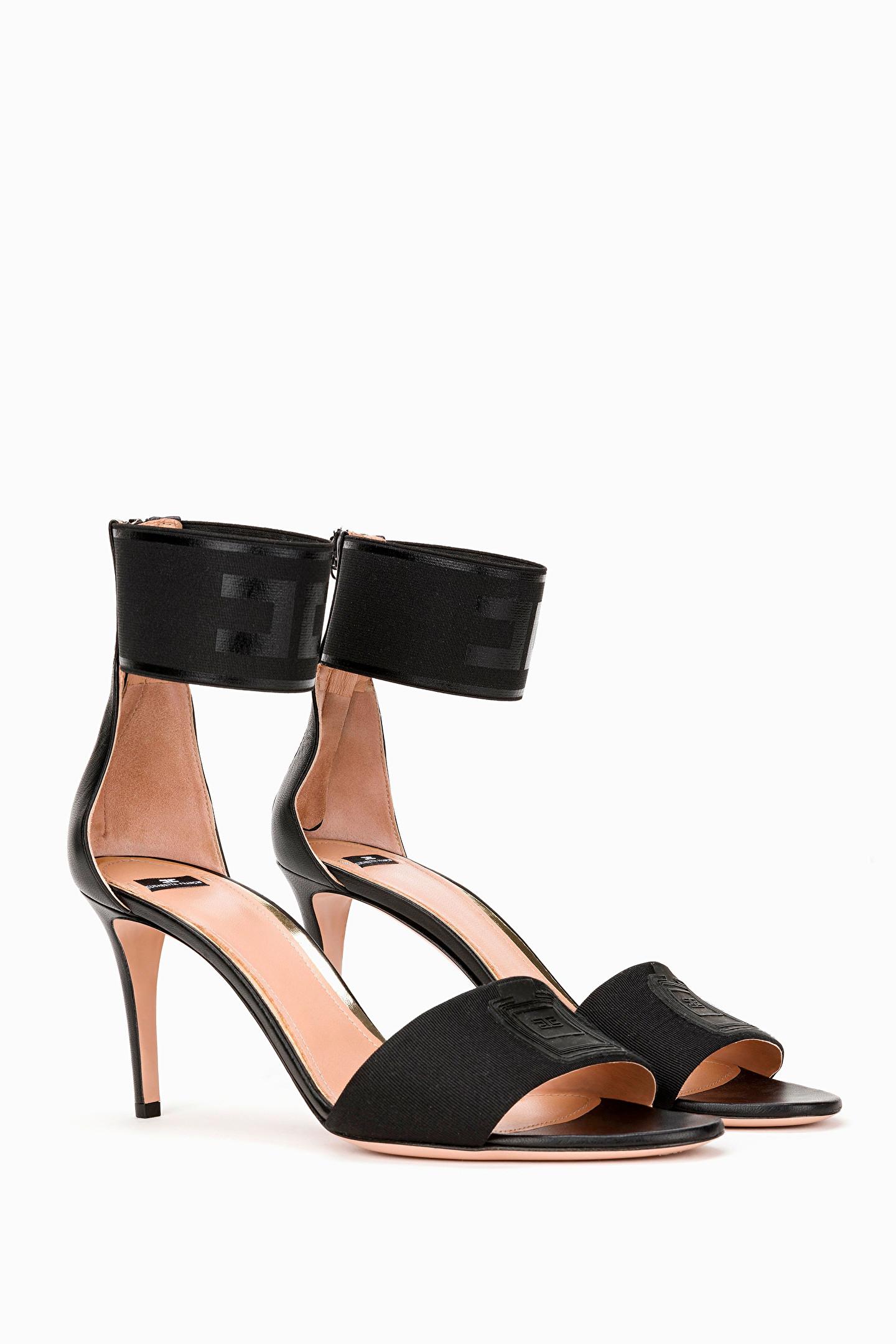sports shoes a8153 2ee68 Sandalo con placca logata Elisabetta Franchi Spring/summer 2019