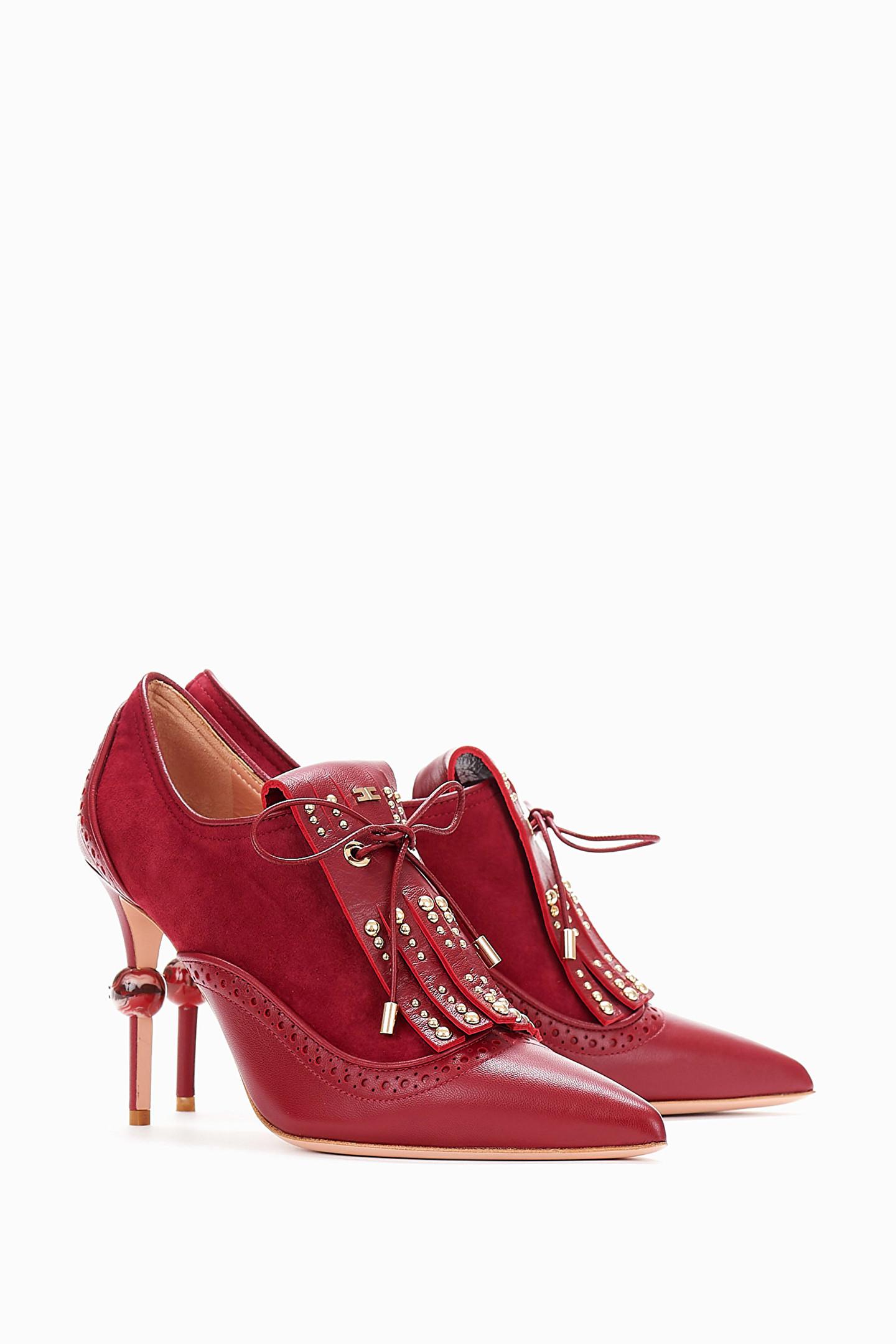 premium selection 60522 428a5 Scarpa con frange e borchie Elisabetta Franchi